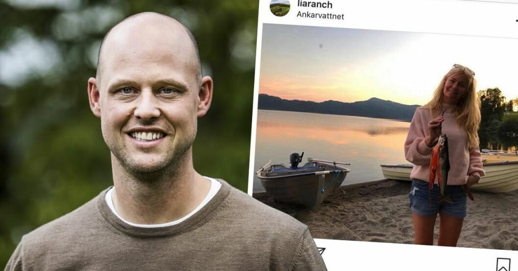 Jimmy Olofsson från Bonde söker fru och Emelie Åström vid stranden