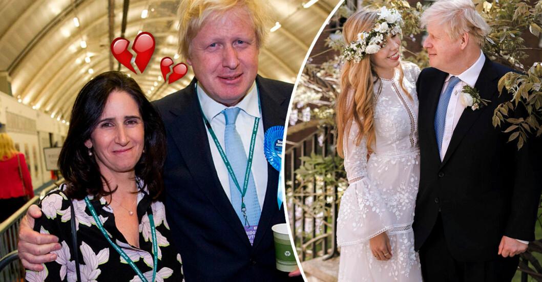Marina Wheeler var gift med Boris Johnson i 25 år. Nu har han gift sig med 23 år yngre kärleken Carrie Symonds.