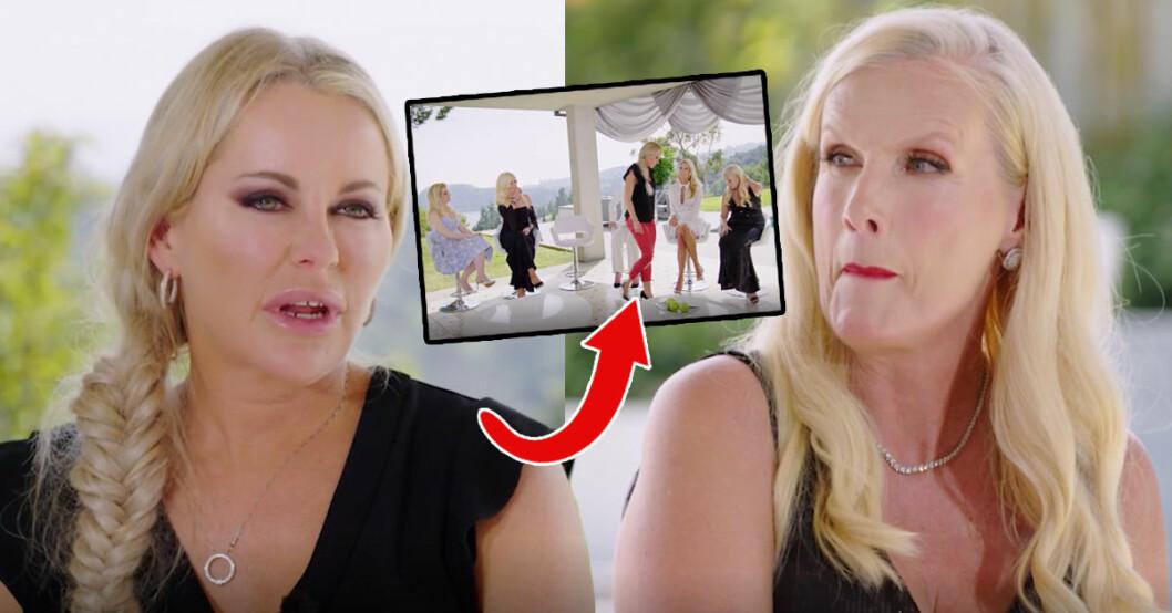 Åsa Vesterlund och Gunilla Persson hamnar i ett nytt bråk som berör Åsas barnlöshet vilket får henne att lämna Svenska Hollywoodfruar – den stora återträffen.