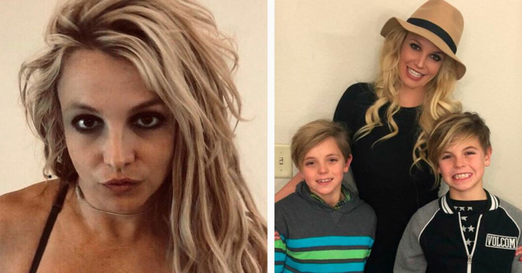 Britney Spears och sönerna Jayden och Sean
