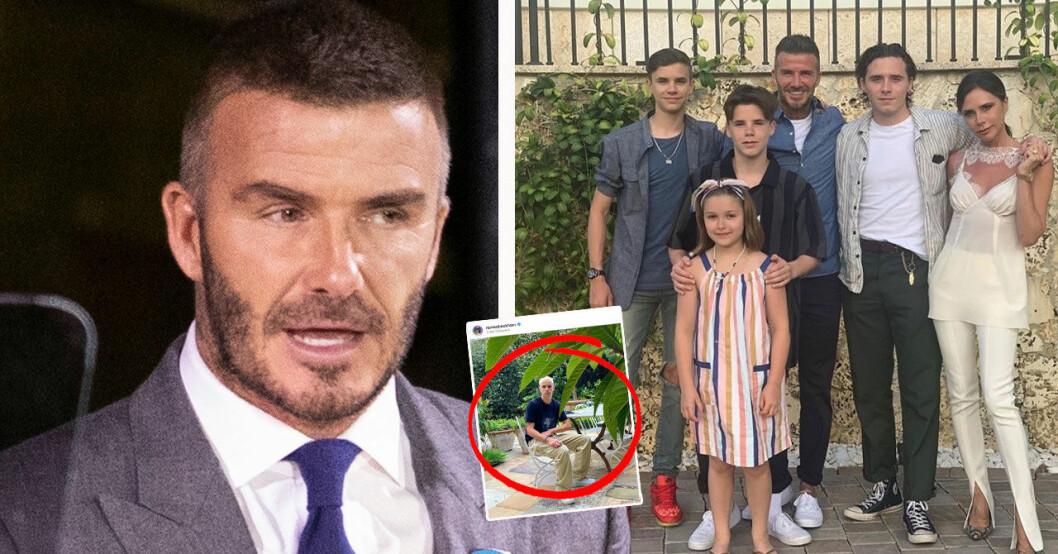 David Beckham och familjen, sonen Romeo har bytt hårstil