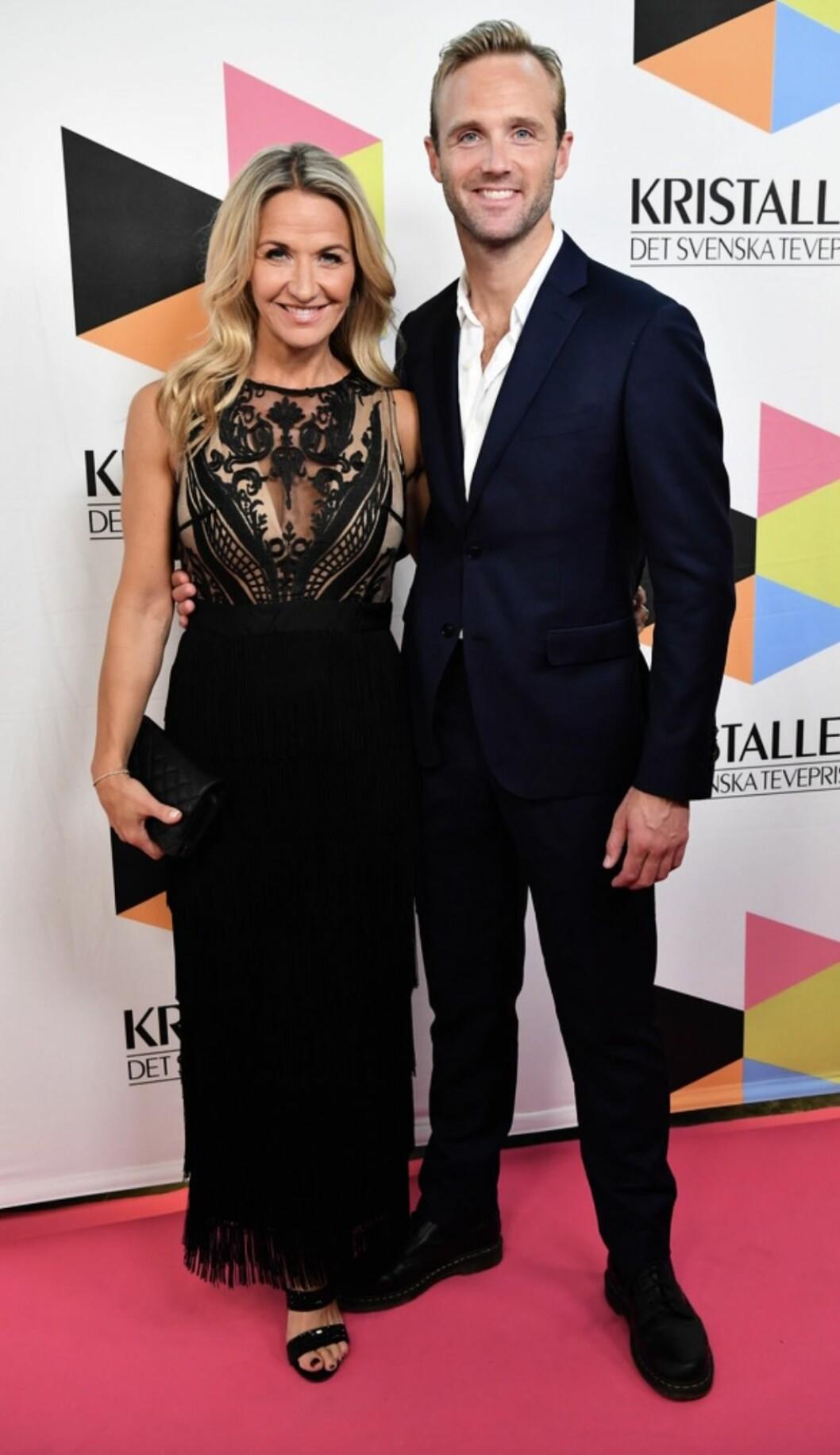 Kristin Kaspersen och Calle Sterner på Kristallen-galan, 2019