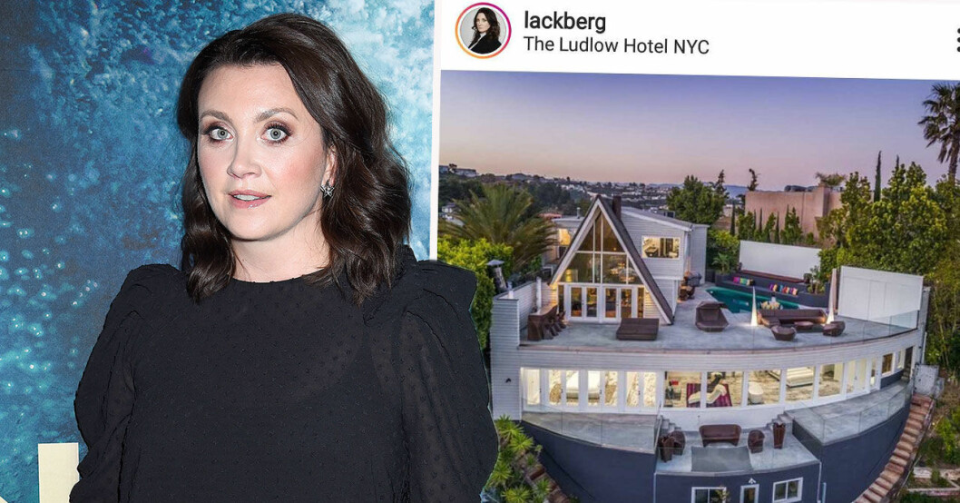 Camilla Läckberg visar upp huset i Los Angeles.