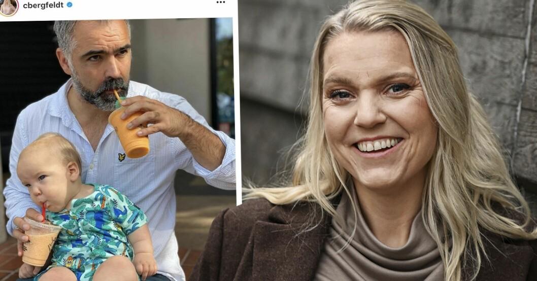 Carina Bergfeldt, maken Jesper Zølck och sonen Hamilton