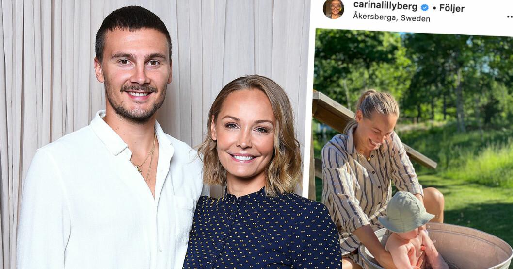 Carina Bergs nya barnbesked med Erik Berg – sex månader efter Ottos födsel