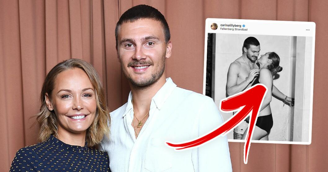Nya bilden på Carina Berg och Erik Berg får följarna att jubla