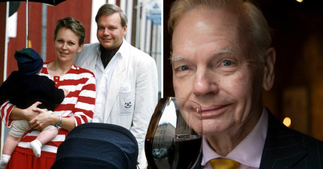 Carl Jan Granqvist med ex-frun och sonen.