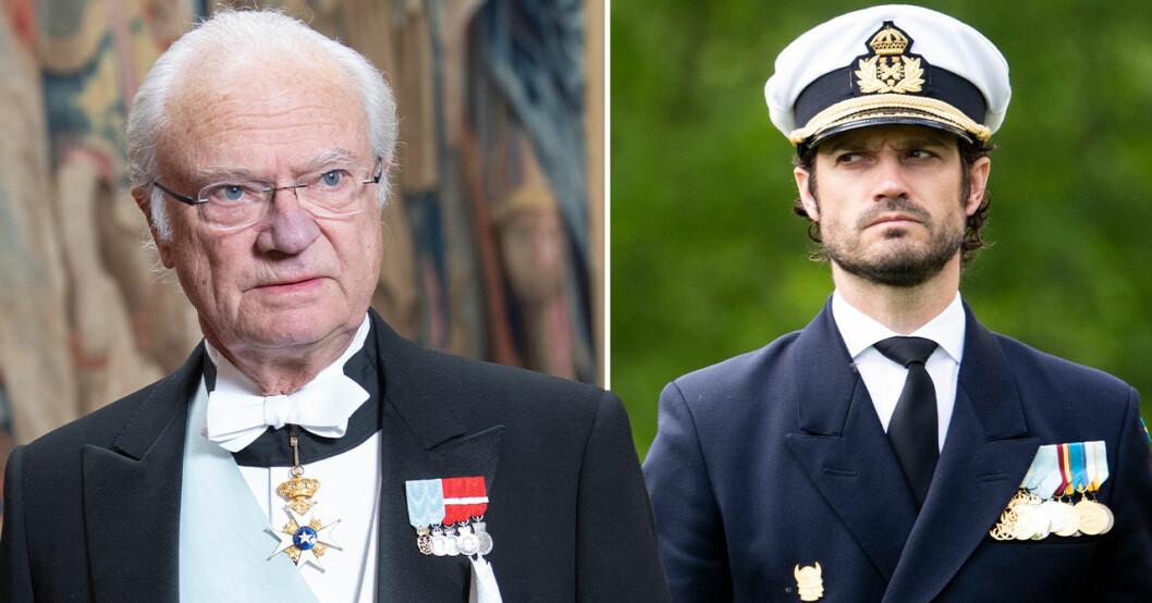 Kung Carl Gustaf, prins Carl Philip