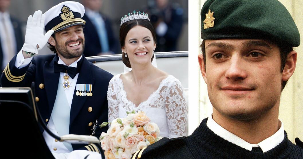 prins carl philip vinkar och prinsessan sofia ler