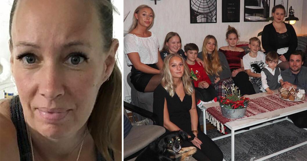 Carola Wetterholm och familjen.