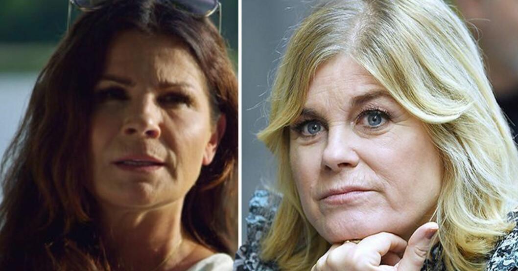Carola Häggkvist och Pernilla Wahlgren.