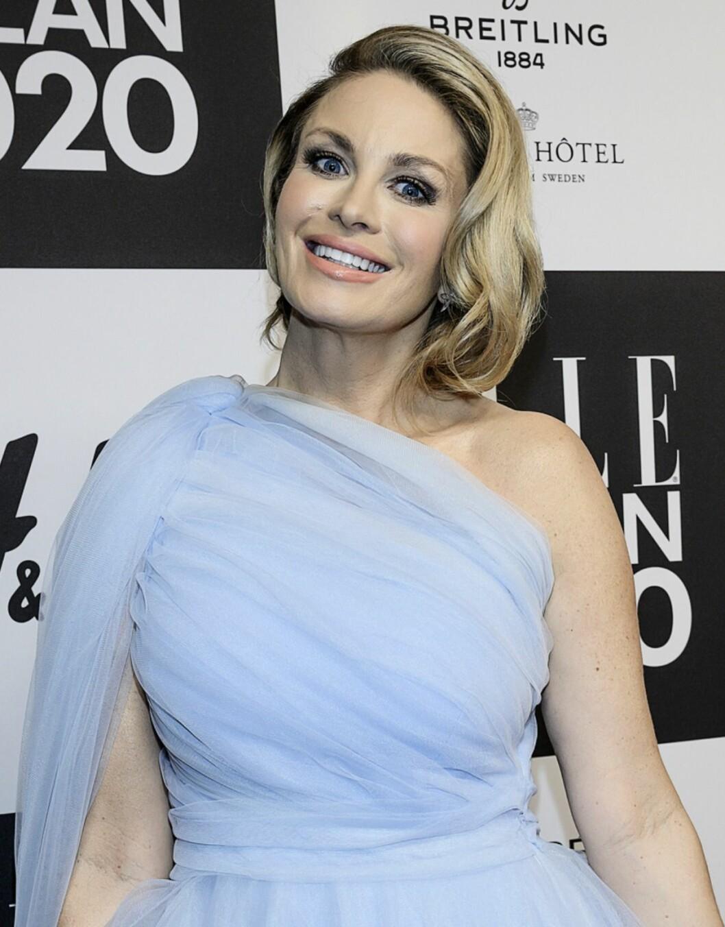 Carolina Gynning på Elle-galan 2020