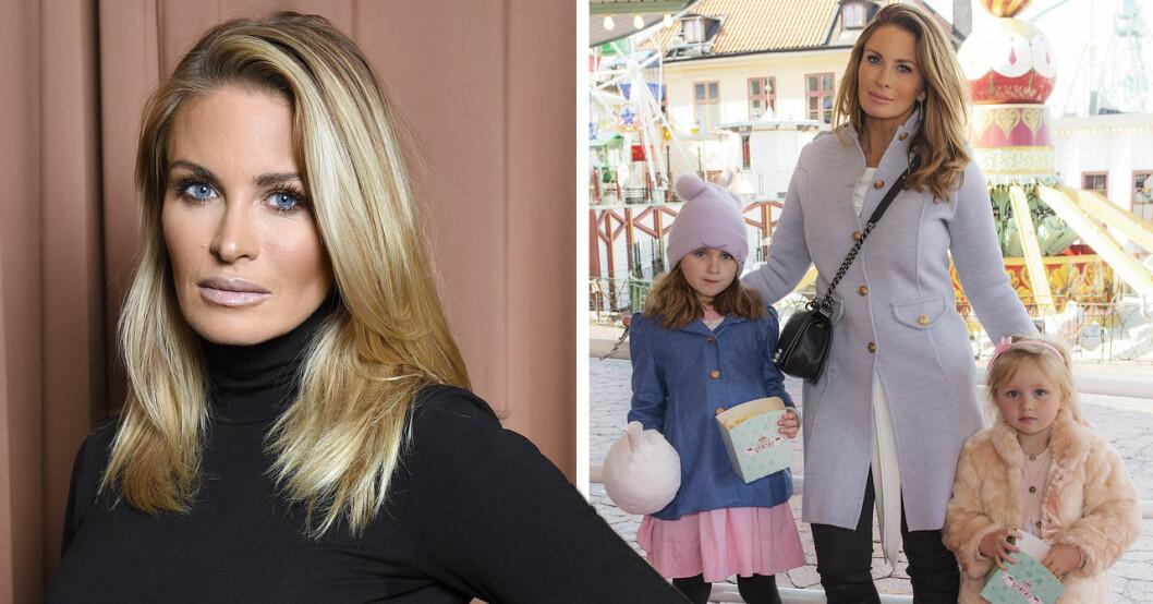 Carolina Gynning med barnen Alicia och Adele.