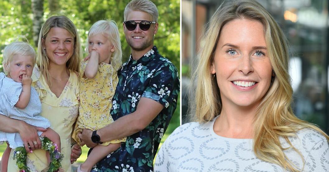Fredrik Rickling med familj och Caroline Kejbert