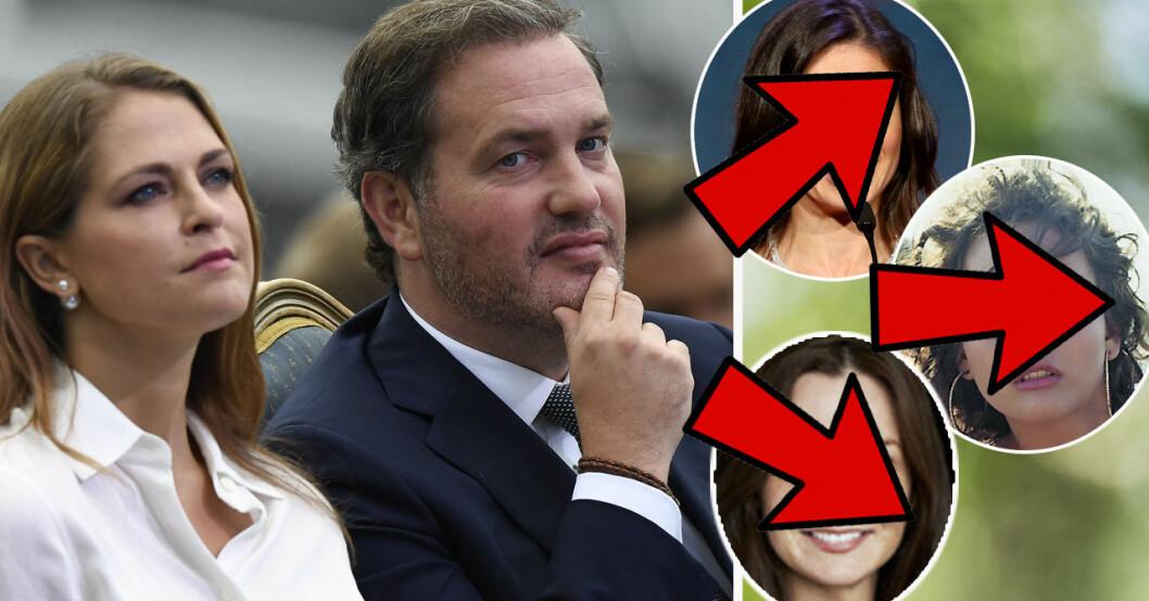 Chris O'Neill har haft flera flickvänner innan han träffade prinsessan Madeleine.