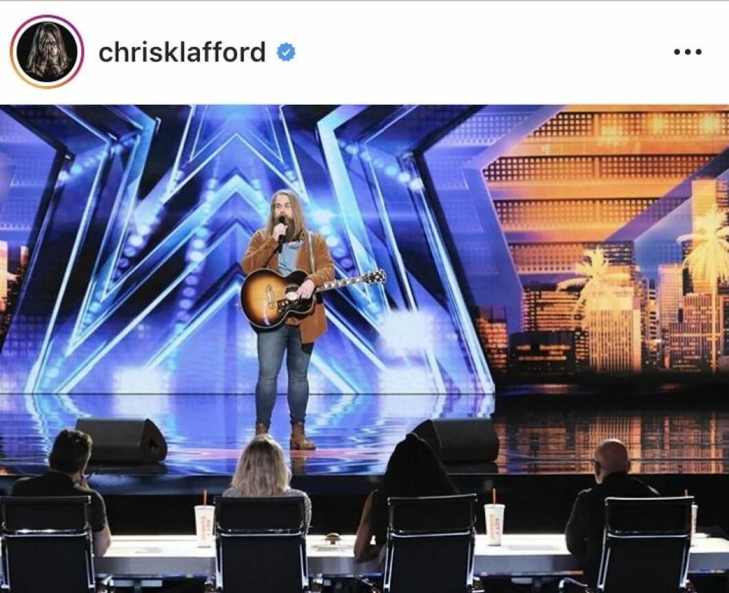 Chris Kläfford sjunger i americas got talent
