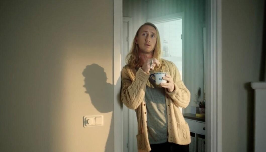 Christoffer Willén i reklam för Colorama
