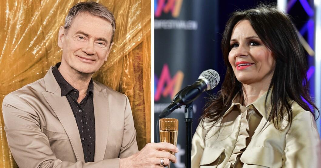 Christer Björkman och Lena Philipsson i Melodifestivalen 2021