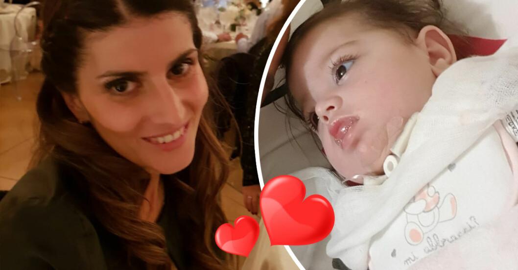 Christina Rosi, 37, drabbades av en hjärtattack. När hon vaknade visade det sig att hon fått en dotter.