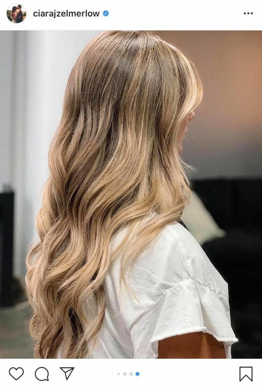 Ciara Zelmerlöw förvandling, färgat håret