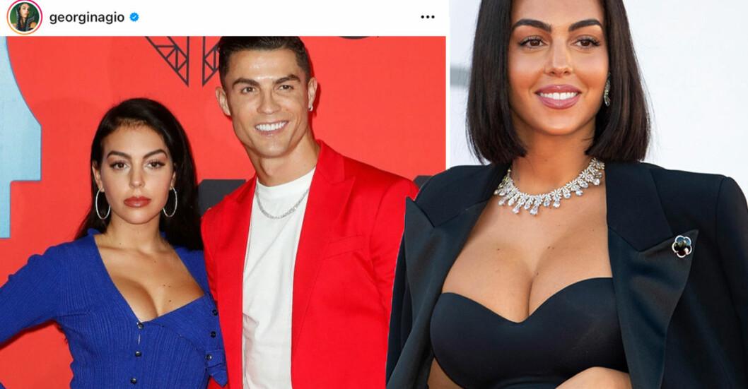 Cristiano Ronaldo och fästmön Georgina Rodríguez.