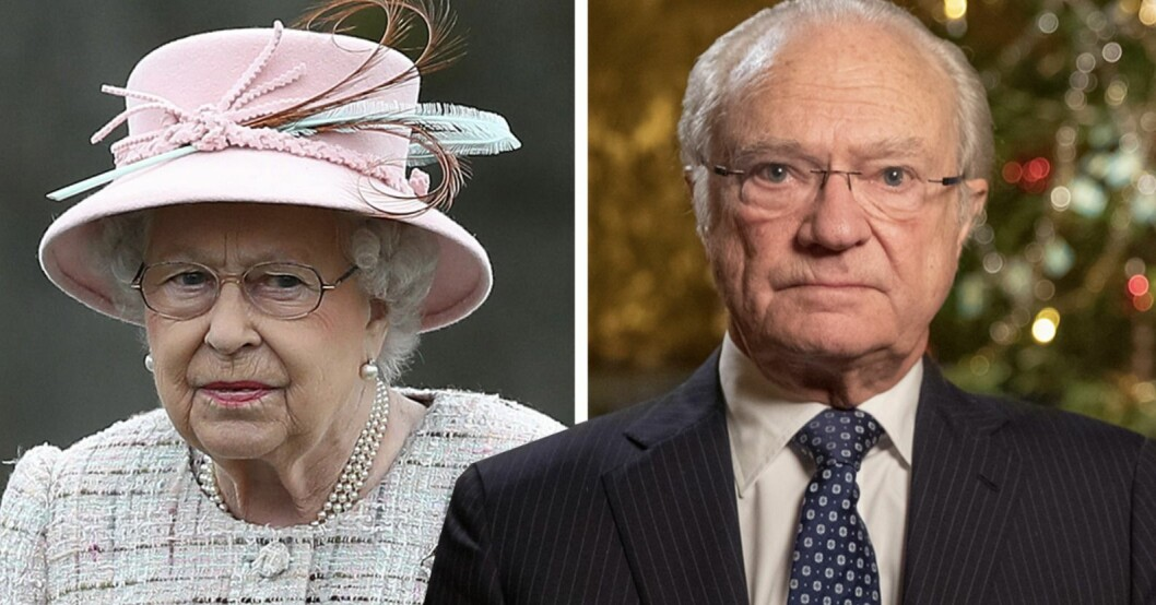 Drottning Elizabeth & kung Carl Gustaf The Crown