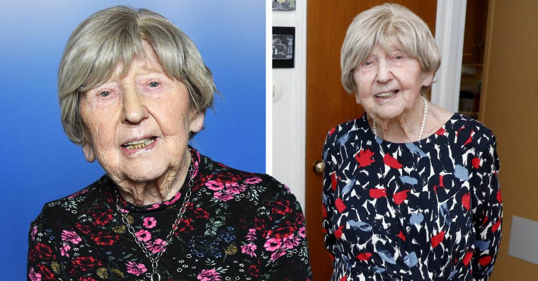 107-åriga bloggaren Dagny Carlsson.