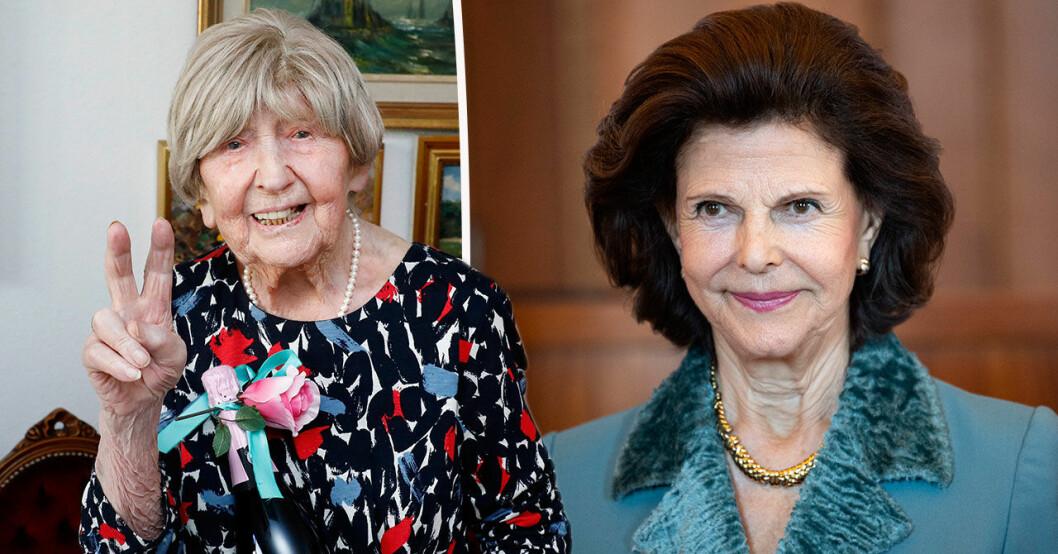 Drottning Silvia skickade personlig hälsning till Dagny Carlsson.