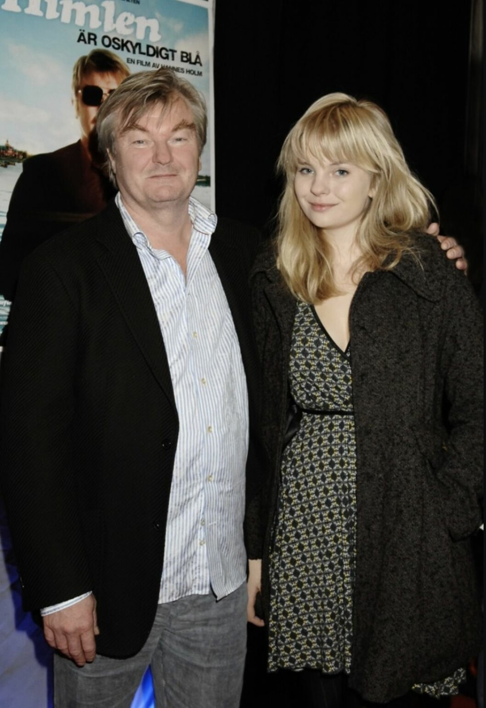 Peter Dalle och dottern Eira Dalle på premiär