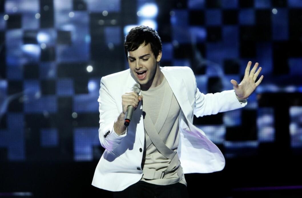 Darin uppträder i Melodifestivalen 2010.
