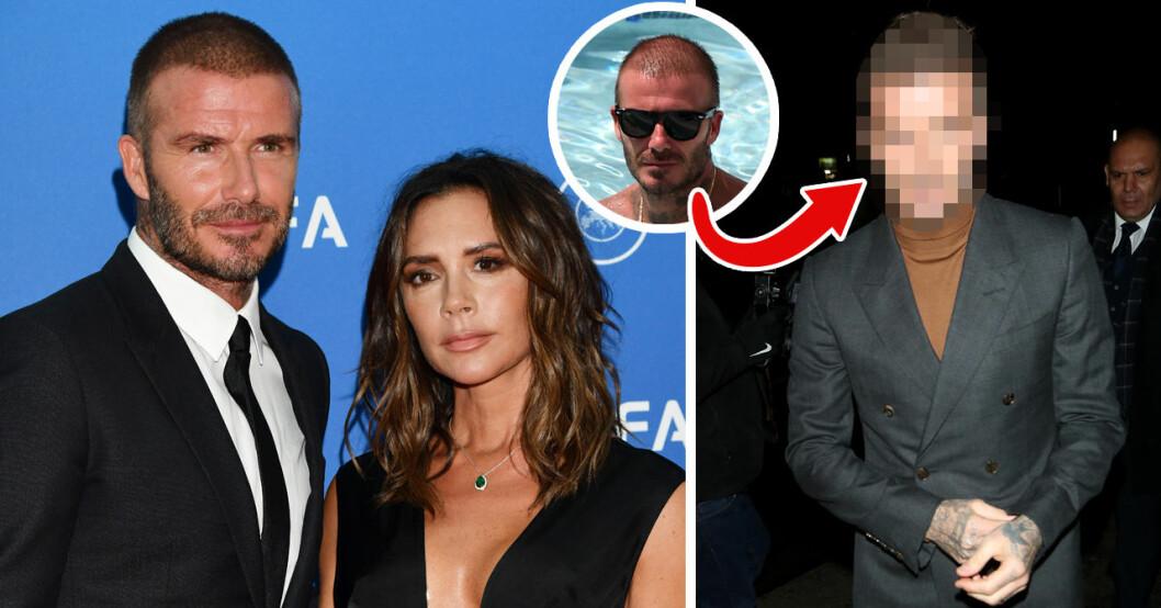 Det ryktas om att David Beckham gjort en hårtranplantation efter att han synts med en betydligt tjockare kalufs.