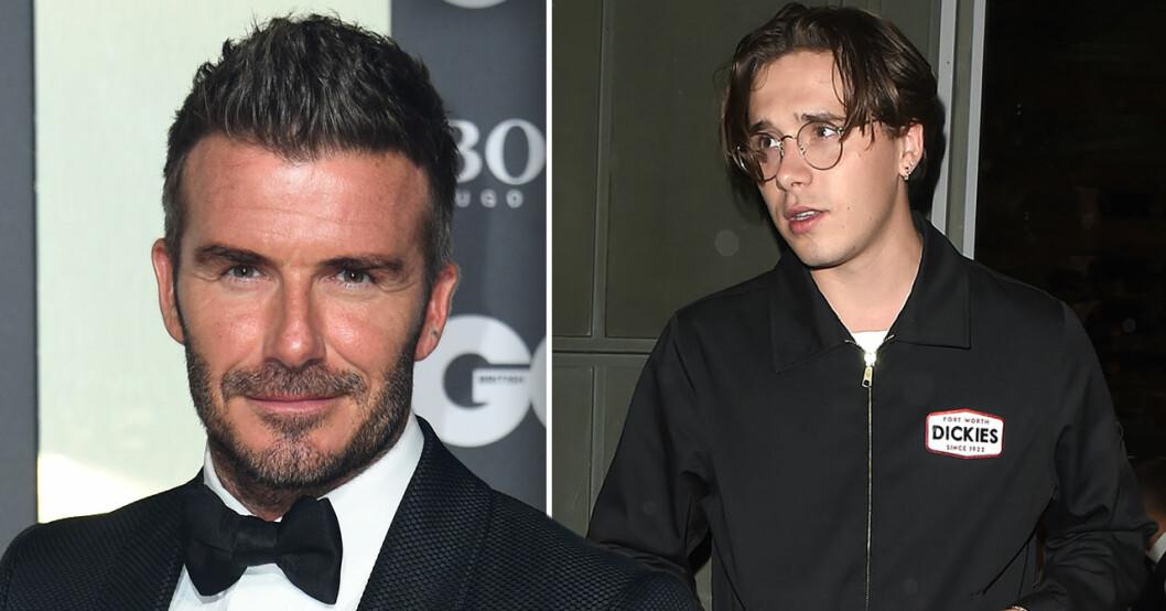 David och Brooklyn Beckham