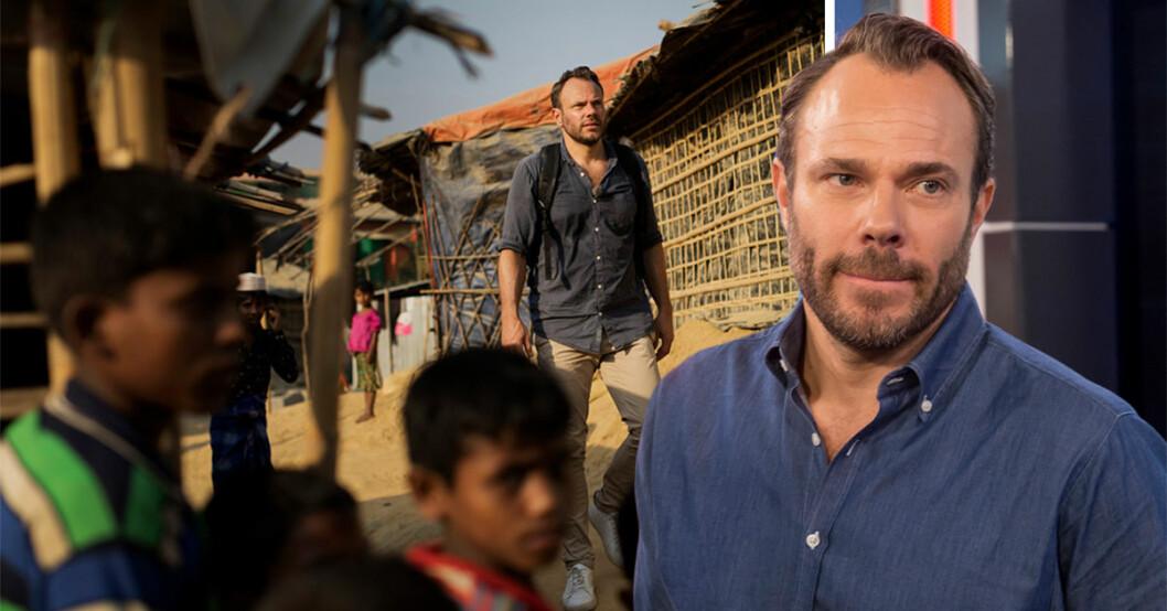 David Hellenius har besökt ett flyktingläger i Bangladesh för Unicefs räkning.