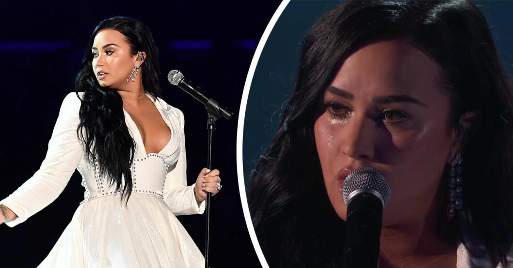 Demi Lovatos kollaps i direktsändning– tvingades avbryta Grammy-framträdandet