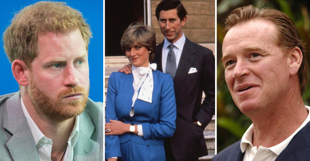 Elaka rykten gör gällande att prins Harrys pappa inte alls är prins Charles utan prinsessan Dianas älskare James Hewitt.