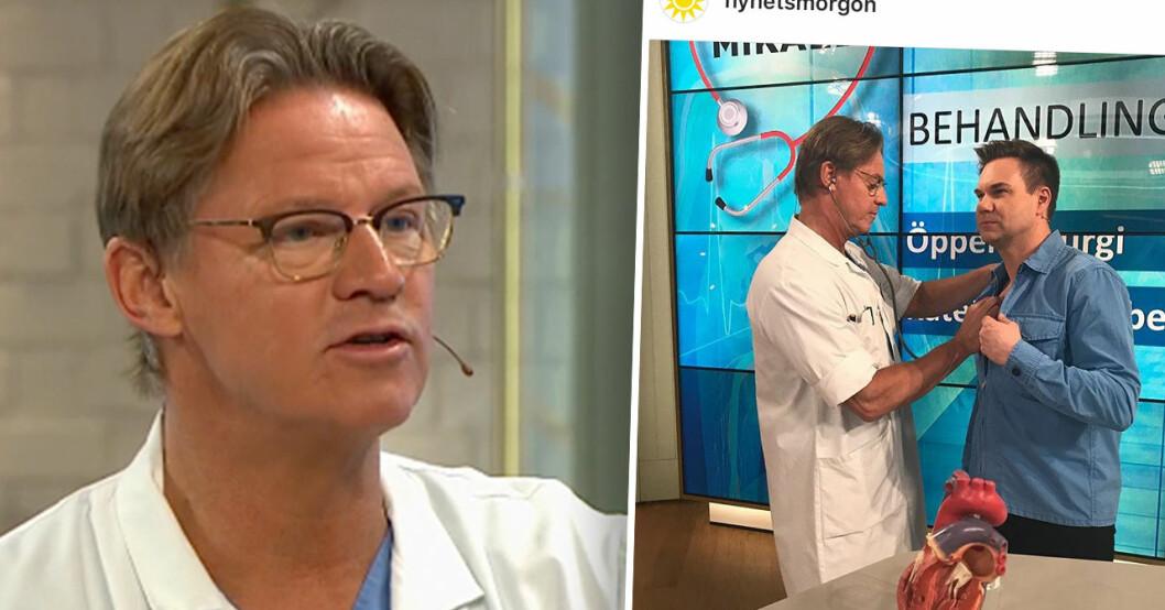 Kritik mot doktor Mikaels klädval i Nyhetsmorgon