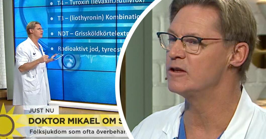 Doktor Mikael hyllas av TV4-tittarna efter inslaget om sköldkörteln i Nyhetsmorgon.