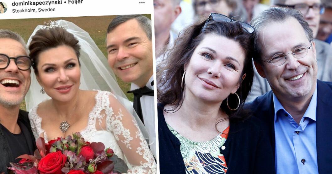 Dominika och Anders borg har gift sig