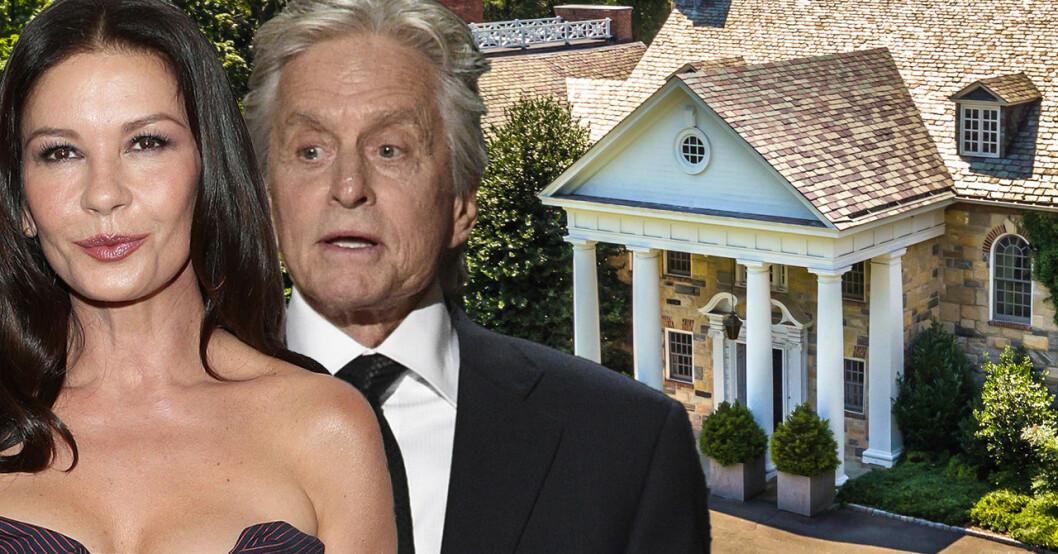 Michael Douglas och Catherine Zeta-Jones har köpt en herrgård för 45 miljoner kronor.