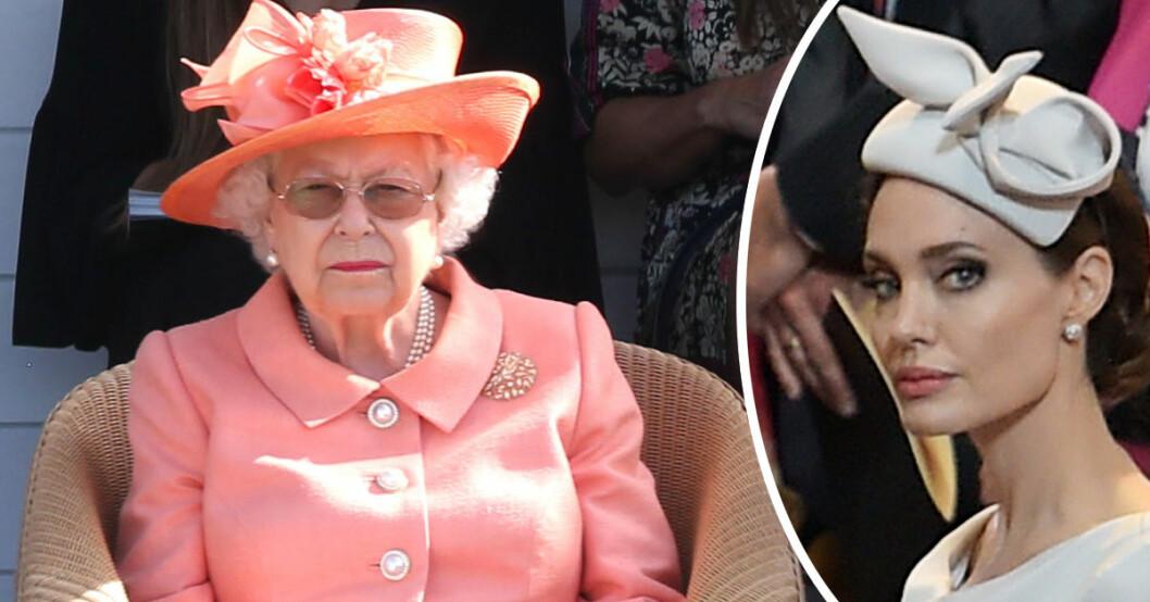 Drottning Elizabeth ställde in sitt möte med skådelesperskan Angelina Jolie nyligen på grund av sjukdom.