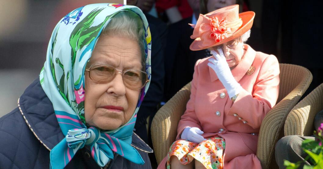 Drottning Elizabeth har blivit sjuk och ställer in sina uppdrag.
