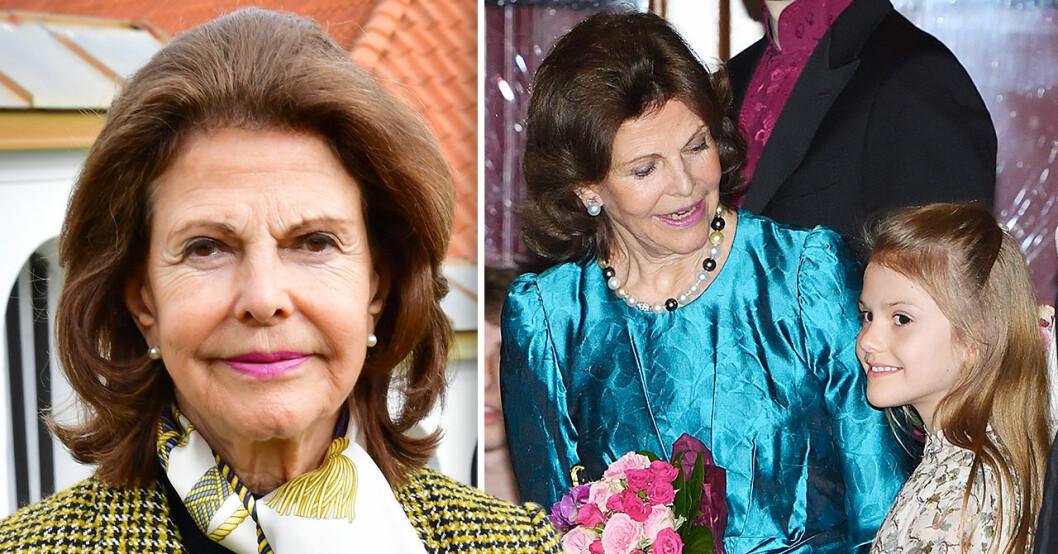 Prinsessan Estelle och drottning Silvia