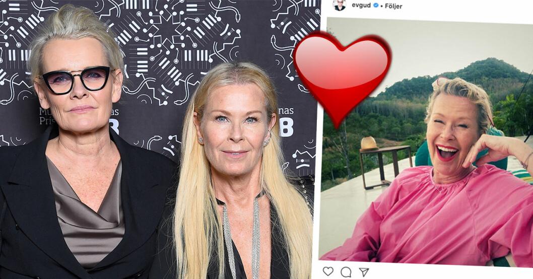 Eva Dahlgrens nya ord om relationen med hustrun Efva Attling