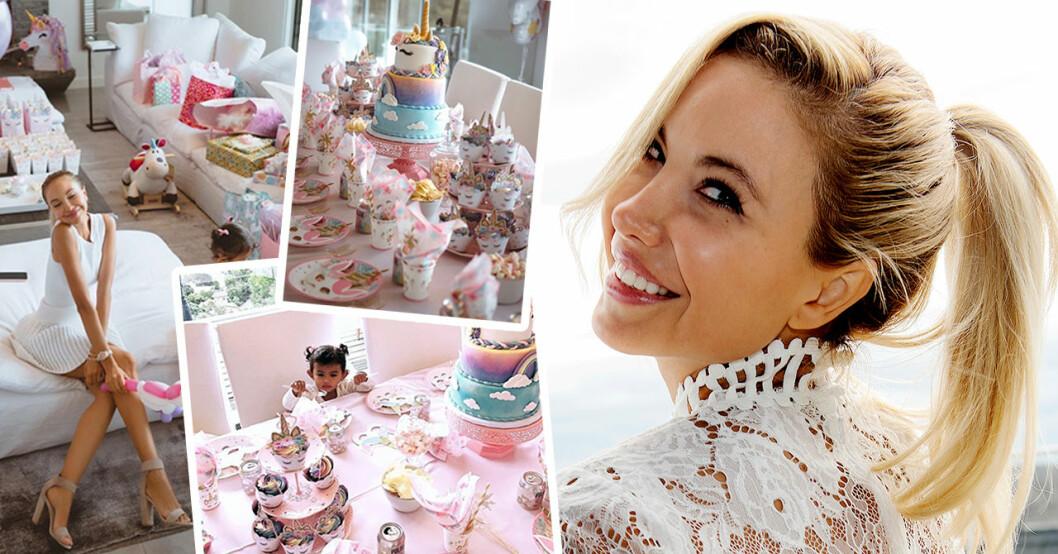 Elena Belles lyxiga födelsedagsfest för 2-åriga dottern – se privata bilderna
