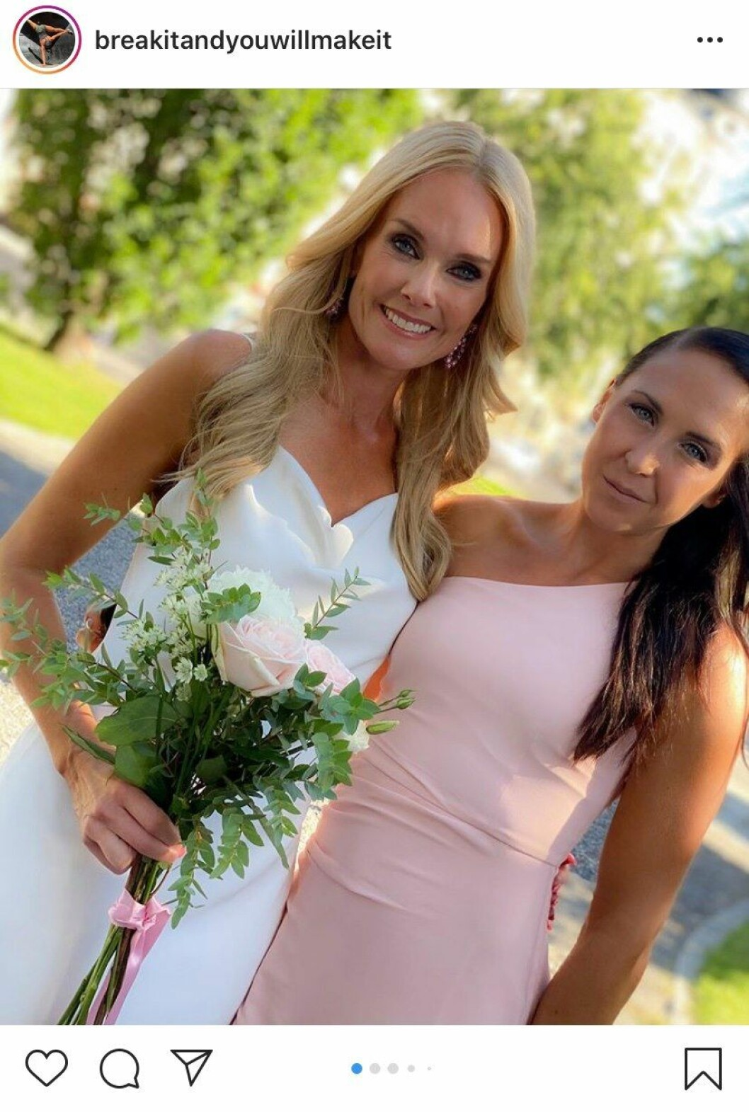 Elin Härkönen på bröllop