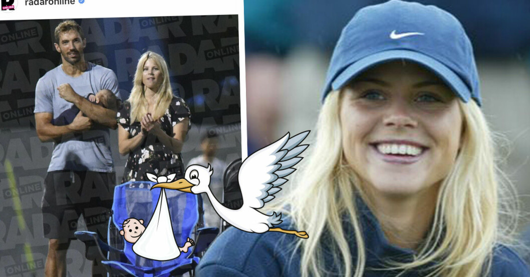 Tiger Woods ex-fru Elin Nordegrens babylycka med Jason Cameron.
