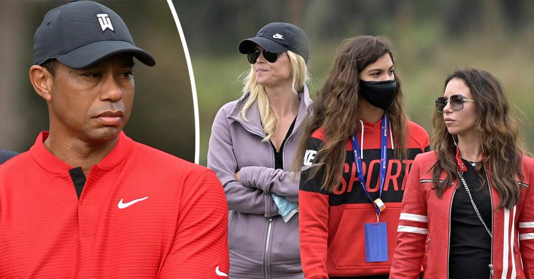 Tiger Woods exfru Elin Nordegren tillsammans med golfikonens nya flickvän.
