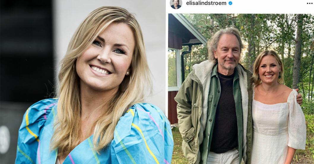 Elisa Lindström med Tomas Ledin
