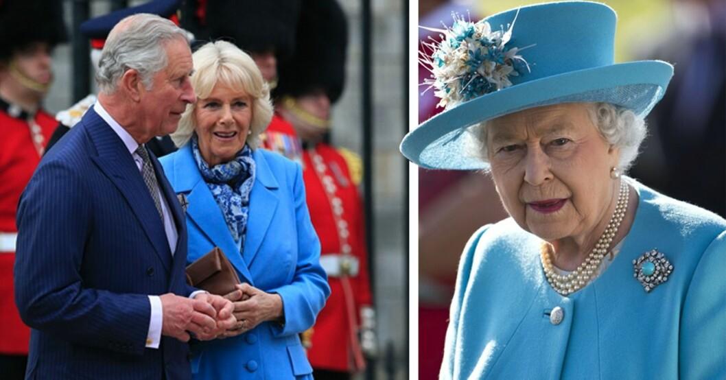 Oro i England efter beskedet om Elizabeth