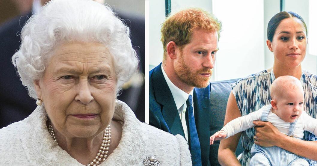 Drottning Elizabeth är inte nöjd med prins Harry och Meghan Markle